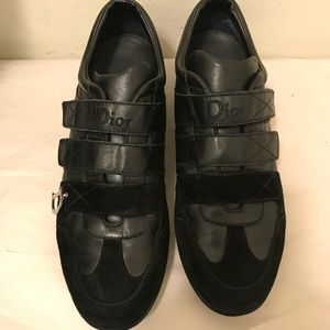 Dior leather and suede sneakers